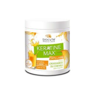 Biocyte Keratine Max Capilar 240 Gramas,é certamente uma deliciosa bebida suplemento alimentar. Traz ainda os 18 aminoácidos de queratina e cavalinha, com o propósito de, estimular o crescimento do cabelo.
