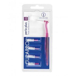 Curaprox Perio Plus CPS 406 5Un + Cabo e escovilhões para uso diário e limpeza cuidada e efectiva dos espaços interdentários, para uma limpeza completa da cavidade oral.