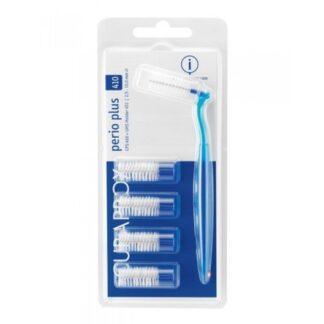 Curaprox Perio Plus CPS 410 5Un + Caboescovilhões para uso diário e limpeza cuidada e efectiva dos espaços interdentários, para uma limpeza completa da cavidade oral