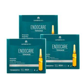 Endocare Tensor Anti-envelhecimento 3x10 Ampolas, altamente concentradas super-intensivas, refirmantes e redensificantes que hidratam, refirmam e conferem um efeito tensor imediato à pele.