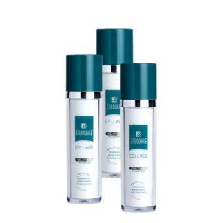 ndocare Pack Cellage Gelcreme Anti-envelhecimento 3x50ml, gelcreme numa textura ligeira, não oleosa e não comedogénica, adequado a todos os tipos de pele, nomeadamente a pele normal a oleosa.