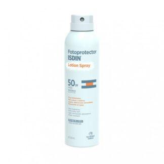 Isdin Fotoprotector Lotion Spray FPS 50+ 250ml,com a finalidade deproteção e hidratação. Além disso protege aspeles normais e secas que necessitam de um extra de hidratação. Ainda assim é especialmente indicado para zonas extensas ou de difícil acesso.