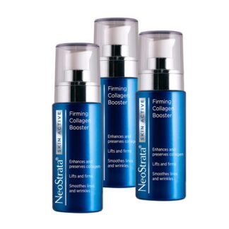 Neostrata Pack Skin Active Colagénio 3x30ml,serum de alta performance formulado com ingredientes específicos que atuam sinergisticamente para a preservação e reconstrução da matriz extracelular, aumentando a firmeza da pele.