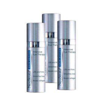 Neostrata Pack Skin Active Contorno de Olhos 3x15gr, creme delicado e leve, hidratante, refirmante e regenerador, que corrige todas as imperfeições da pele do contorno dos olhos (rugas e rídulas, olheiras, papos, hiperpigmentações). Todos os tipos de pele.