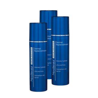 Neostrata Pack Skin Active Dermal Replenishment 3x50gr, creme refirmante e hidratante formulado para otimizar a hidratação e ajudar a reverter visivelmente todos os sinais do envelhecimento, para uma pele intensamente hidratada, mais firme e luminosa.