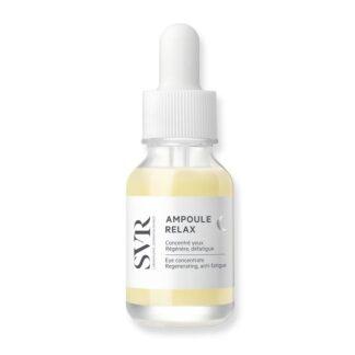 SVR Ampoule Relax Concentrado de olhos 15ml, para todos os contornos de olhos sensíveis, desde os primeiros sinais de idade. Adaptado a portadores de lentes de contacto.