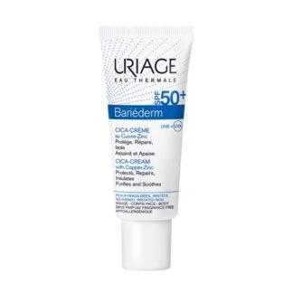 Uriage Bariéderm Cica-Creme SPF 50+ 40ml, creme protetor e reparador, indicado para pele fragilizada/agredida