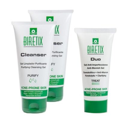 Biretix Pack Cleanser Gel 2 Un + Duo Gel Anti-Imperfeições