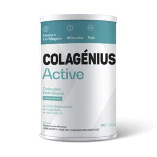 Colagenius Vida Ativa 330gr, é uma fonte de alta riqueza que preserva os níveis de colagénio no corpo, suplemento natural que no ajuda no rejuvenescimento