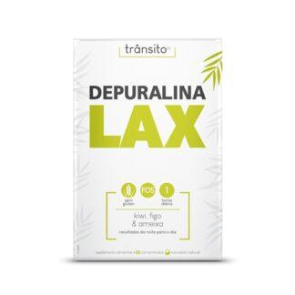 Depuralina Lax 30 Comprimidosé um Suplemento Alimentar à base de: Sene, Cáscara Sagrada, Aloé Vera, FOS, Ameixa, Figo e Kiwi.