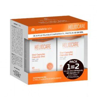 Heliocare 60 Cápsulas - Leve 2 Pague 1, suplemento alimentar à base de plantas e vitaminas, rico em antioxidantes de origem natural