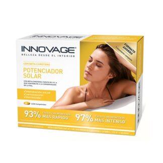 Innovage Potenciador Solar 30 Comprimidos, exposição solar... as células cutâneas estão danificadas e a pele fica mais vulnerável, perdendo flexibilidade e elasticidade