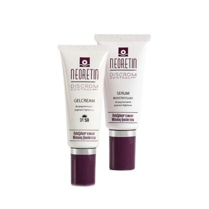 Neoretin Discrom Control Gelcreme + Serum, reduz as manchas e controla a pigmentação cutânea, cuidados intensivos despigmentantes de dia e noite
