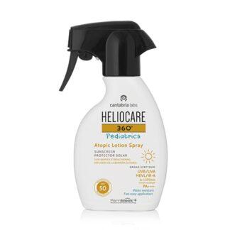 Heliocare 360º Pediatrics Atopic Lotion Spray SPF50 250ml, fotoimunoproteção alta num formato em spray com pistola, que permite una dosificação adequada