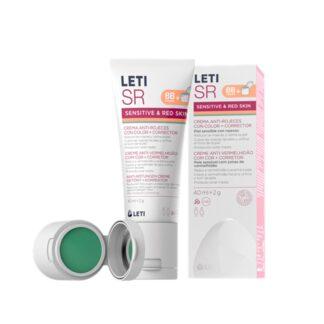 LetiSR Creme Antivermelhidão com cor + Corretor, fórmula indicada para o cuidado diário da pele sensível com vermelhidão