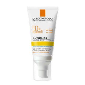 La Roche Posay Anthelios Anti Imperfections SPF50+ 50ml, proteção solar muito elevada de rosto, para pele com tendência acneica, com risco de marcas induzidas pelos raios UV.