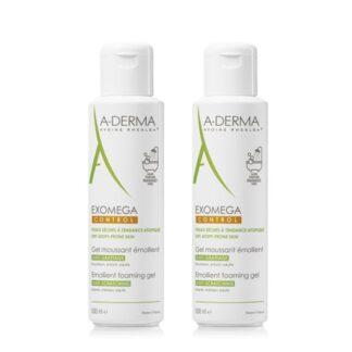 A-Derma Exomega Control Gel Lavante 2x500ml