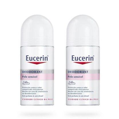 Eucerin Desodorizante Roll-On Pele Sensível 24h 50 ml, está comprovado que esta fórmula suave protege contra o odor e é adequada