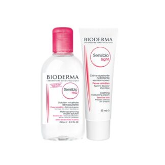 Bioderma Sensibio Creme Light Tubo 40ml e H2O Água Micelar 250ml