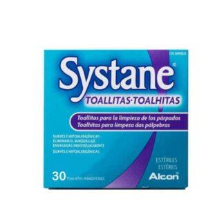 Systane Toalhitas Oftalmológicas 30 Toalhitas, proporcionam uma limpeza diária suave dos seus olhos e remoção de vestígios de maquilhagem que podem causar irritação. São hipoalergénicas, não irritantes e oferecem um efeito calmante, ideal para olhos sensíveis.