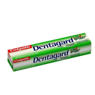 Colgate Dentagard dentífrico 75ml, é um dentífrico protector com flúor e extractos naturais de camomila, hortelã, mirra e salva. A escovagem regular com dentagard mantém os dentes fortes, previna a formação de placa bacteriana e, através do flúor, previne eficazmente a cárie.
