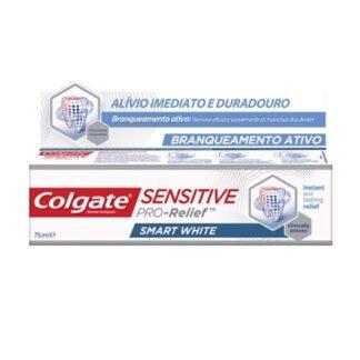 Colgate Sensitive Pro-Alívio Branqueamento 75ml,o dentífrico Colgate® Sensitive Pro-Alívio Branqueamento Ativo proporciona uma proteção reforçada contra a sensibilidade dentária.