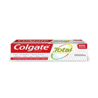 Colgate total Original 75ml, para uma boca saudável, não basta cuidar apenas dos dentes. É por isso que o novo dentífrico Colgate Total® Original combate ativamente, durante 12 horas*,