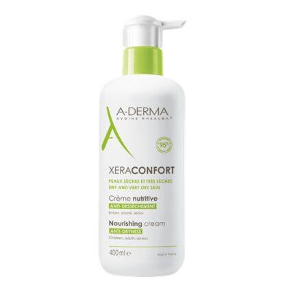 A-Derma XeraConfort Creme Nutritivo 400ml, oCreme Nutritivo ANTISSECURA XERACONFORT é o cuidado diário para as peles secas e muito secas.