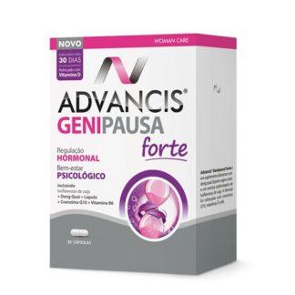 Advancis Genipausa Forte 30 Cápsulas é um suplemento alimentar especialmente formulado para ajudar no equilíbrio hormonal e bem-estar psicológico da mulher.