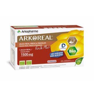 Arkoreal Geleia Real 1500 mg Ampolas, é o resultado da união entre o mundo vegetal e animal. A geleia real é uma substância excretada pelas abelhas obreiras e é o alimento exclusivo da abelha rainha durante toda a sua vida.