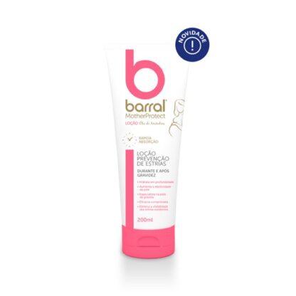 Barral Mother ProtectLoção Óleo de Amêndoas 200ml, produto desenvolvido especificamente para a pele das grávidas e recém-mamãs. Loção prevenção de estrias