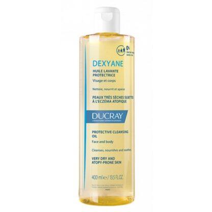Ducray Dexyane Oleo Lavante 400ml, higiene diária rosto e corpo da pele muito seca com tendência a eczema atópico. Pele com tendência atópica. A partir de 3 meses de idade.