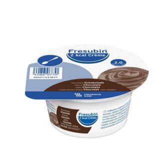 Fresubin 2Kcal Creme Chocolate 4x125gr,Suplemento hipercalórico e Hiperproteico com consistência cremosa. Pacientes idosos e disfagia, restrição hídrica e/ou necessidades elevadas: DPOC, cardiopatias, pacientes renais em tratamento dialítico, desnutrição proteico-calórica.