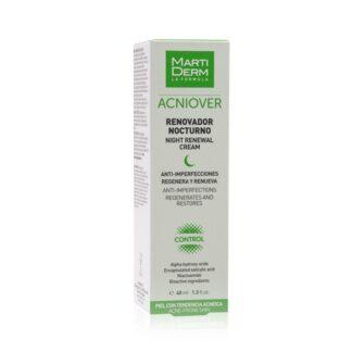 Martiderm Acniover Renovador Noturno é o novo aliado para combater o acne, pois estimula a regeneração cutânea, reduz as imperfeições e minimiza os poros