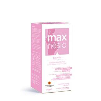 Maxnesio Gravida 60 Cápsulasé um suplemento alimentar que contém Magnésio, Vitamina E, Vitamina B1 e Vitamina B6.