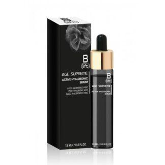 B-Lift Age Supreme Serum Hiadurónico Ativo 15ml, solução de Ácido Hialurónico 100% puro com uma extraordinária acção anti-rugas, hidratante e revitalizante que torna a pele do rosto mais compacta, elástica e luminosa.