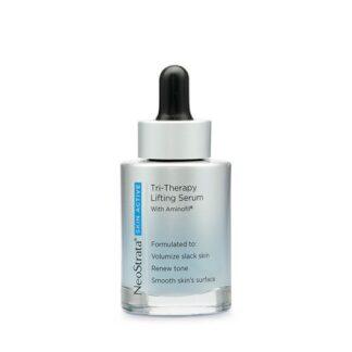 O Neostrata® Skin Active Tri-Therapy Lifting Serum é um novo produto que favorece a redução de rugas profundas e flacidez enquanto unifica o tom e ajuda a melhorar a suavidade da pele.