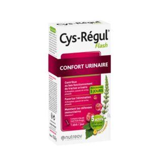 Cys-Régul Flash é um suplemento indicado para perturbações urinárias que associa 4 extratos de plantas.