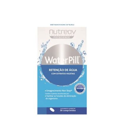 A fórmula de WATERPILL® Retenção de água contém 6 extratos vegetais: chá verde, freixo, raínha-dos-prados, dente-de-leão, pés de cereja ácida e chá-de-java.