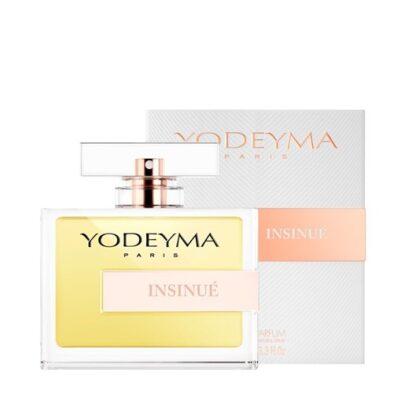 Yodeyma Mulher Insinué 100 ml, esta potente mistura de notas olfativas, orientais e florais, resulta num perfume sensual e carismático.