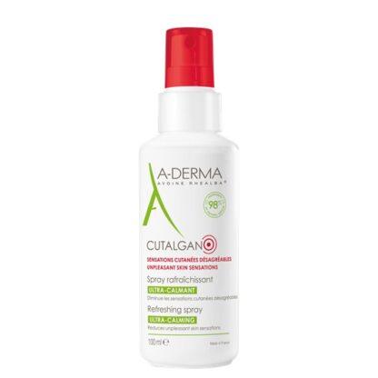 A-Derma Cutalgan Spray Refrescante Calmante 100ml spray que ajuda a refrescar e acalmar a pele das sensações desagradáveis, como o repuxar da pele, prurido e vermelhidões.