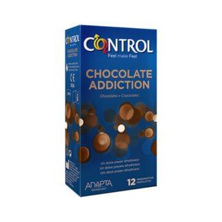 Control Chocolate Addiction 12 Preservativos é dedicado a quem, nos momentos de intimidade, quer despertar todos os cinco sentidos. Graças ao aroma de chocolate, oferece à relação um sabor intenso e delicioso.