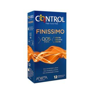 Control Finíssimo 12 Preservativos quanto mais as sensações aumentam, mais intenso é o prazer: Finissimo é o preservativo extrafino e anatómico que oferece uma adaptabilidade perfeita e maior sensibilidade durante a relação.