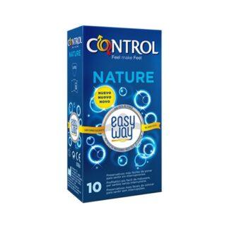 Control Nature Easy Way 10 Preservativos o preservativo mais vendido da gama Control torna-se ainda mais fácil de colocar, graças a uma aba delicada que permite desenrolá-lo em com um único gesto e indica a direção certa de utilização