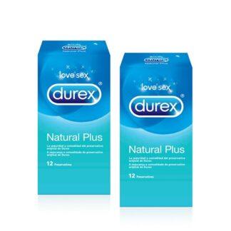 Durex Natural Plus 2x12 Preservativos, dispositivos médicos de uso único e para fins contracetivos. Além disso garantesegurança e a comodidade do preservativo original de Durex.