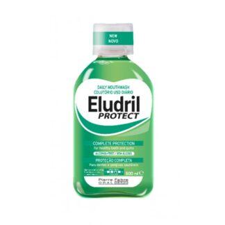 Eludril Protect Colutório 500ml colutório indicado para combater os agentes responsáveis pela formação da placa bacteriana e tártaro para manter as gengivas saudáveis