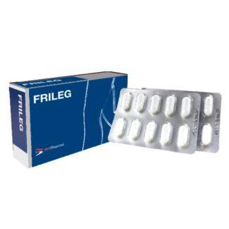 Frileg 90 Cápsulas suplemento alimentar contendo disosmina, gilbardeira e hesperidina.
