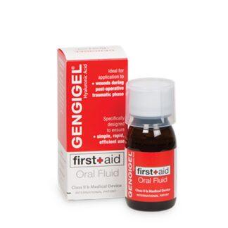 Gengigel First Aid 50ml fluido ideal para aplicar em lesões (feridas) e durante a fase pós-operatória com ação rápida e eficiente.