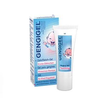 Gengigel Primeiros Dentes 20ml gel oral indicado para inflamações gengivais de bebés e crianças, tais como as causadas pela erupção dentária ou traumas.
