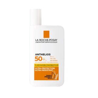 La Roche Posay Anthelios Shaka Fluido SPF50+ C/Perfume 50ml protetor solar dermatológico rosto. Textura ultra fluída. Ultra resistente e invisível. Com perfume.